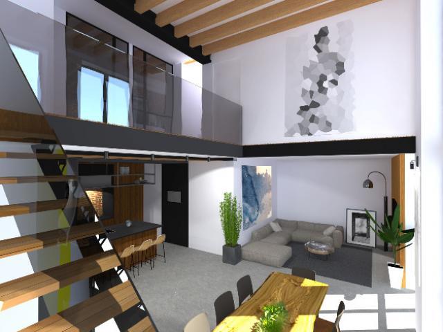 Réaménagement complet avec extension d'une maison contemporaine à Bruxelles.